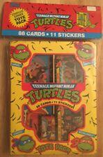 Teenage Mutant Ninja Turtles Tote Pack 88 cards 11 Stickers 1989 Vintage