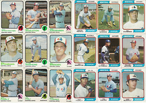 Lot of 185 vintage Montreal Expos cards with stars & rookies, 1973-1979