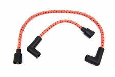 Orange & Black Cloth Spark Plug Ignition Wire Set Harley Softail Sportster Dyna