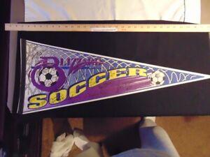Vintage 1990s Felt Pennant Autographed by Team Buffalo Blizzard Indoor Soccer NY