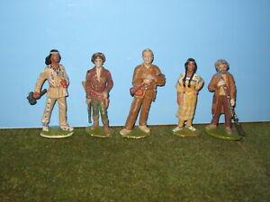 5 Karl May Friedel Figuren Winnetou Old Shatterhand 60er Jahre Vintage