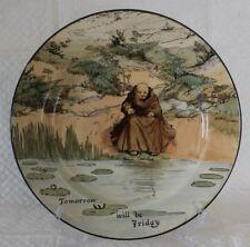 Royal Doulton D3429 Series Ware Monks & Mottoes 26cm Cabinet Plate signed Noke