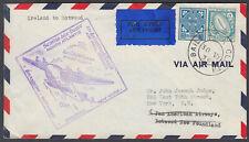 Ireland 1s+3d North Atlantic Airmail; Shannon to Botwood(B/S); onwards NY; 1939