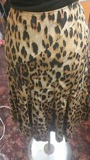 Nwt Sunny leigh leopard skirt size 10 brown black and beige