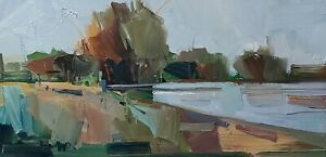 JOSE TRUJILLO Oil Painting IMPRESSIONISM MODERN COLLECTIBLE LANDSCAPE MODERN