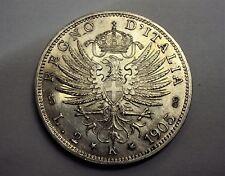 2 LIRE AQUILA SABAUDA VITTORIO EMANUELE III RE DI ITALIA 1905 SPL PERIZIATA