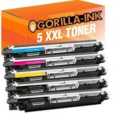 5 Toner XXL für HP Laserjet Pro CP1025 CP1025NW 100 Color MFP M175A M175NW 126A