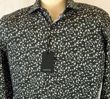 NEW Bugatchi Size XL Men Long Sleeve Button Front Cotton Shirt Bird Prints FREE