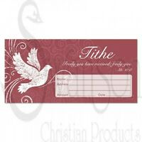 Offering Envelope-Tithe W/Dove (Matthew 10:8) (Pack Of 100)
