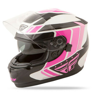 Fly Racing 73-8419 Conquest Full Face Motorcycle Helmet Pink/BlackWhite - Adult