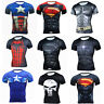 Men's' Marvel Superhero T-Shirts Workout Gym Sport Tops Short Sleeve Cosplay Tee