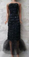 Vintage Premiere Clone Black Textured Mermaid Gown Barbie, Bild Lilli, Uneeda Sz