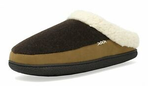 Men's Winter Slippers Comfy Close Toe Warm Home Leather Indoor House Shoes