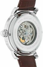 Thomas Earnshaw Men's 'Longcase' Automatic Stainless Steel and Leather Dress Wat