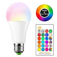 Konesky 15W E27 RGBW Multi Colour Changing Light Bulbs Dimmable Lights Led Pa...