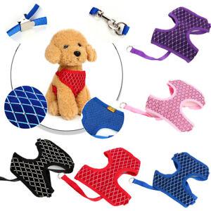 Soft Mesh Small Medium Dog Harness And Leash Set Puppy Cat Pet Jacket Vest Lead