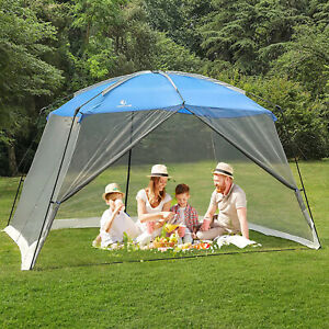 13x9' Outdoor Canopy Tent Screen House Shade Gazebo Mesh Mosquito Net Protection