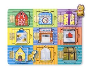 Melissa & Doug Hide and Seek Wooden Activity Board With Wooden Magnets 10474