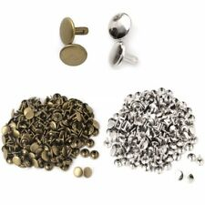 Pkg 25 Metal Double-sided Rivet Studs Leather Crafts (5200) CHOOSE SIZE & FINISH