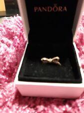 Pandora rose gold bow ring size 50
