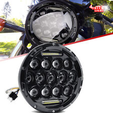 "7"" Black LED Headlight Light For Kawasaki VN Vulcan 500 750 800 900 1500 1600"
