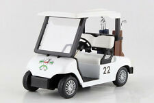 Die-Cast Metal Golf Club Cart Model Caddy Car With Club Pull Back action 5 inch