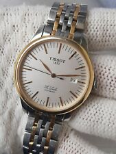 TISSOT LE LOCLE AUTOMATIC L 164/264 DATE TWO TONE MENS 39.5mm SWISS Serviced
