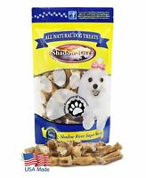 Shadow River Bully Bite NUGGETS for Dogs - 100% USA Beef Bully Stick Pieces 1lb