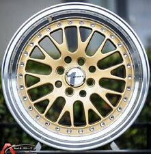 15X8 AVID.1 GOLD WHEELS AV-12 4X100 +25 FITS HONDA FIT DEL SOL CRX