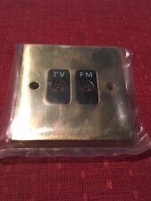 Hamilton  92TVFMBL Cheriton Victorian Polished Brass 2G Isolated TV/FM Black