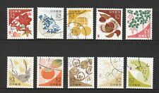 JAPAN 2017 TRADITIONAL COLOUR SERIES 1 (AUTUMN) 82 YEN COMP. SET 10 STAMPS USED