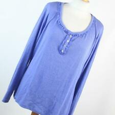 TU Womens Size 20 Blue Plain Cotton Blend Top