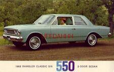 1963 RAMBLER CLASSIC SIX 550 2-DOOR SEDAN
