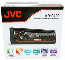 JVC KD-R490 Car Audio Stereo Single Din CD Receiver AM/FM tuner w/Remote