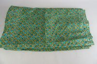 Vintage Polyester Green & Gold Fabric 5 Yds