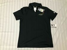 Women Under Armour Embroider Solairus Aviation UA Black Polo Shirt Medium M
