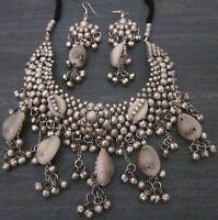 Statement Bib Choker Necklace Tribal Vintage Boho Gypsy Hippie Fashion Jewelry