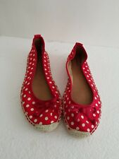 Merona  red with white polka dots fabric espadrille  Sz 7