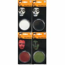 Black White Green Red Halloween Makeup Face Paint Party Witch Skeleton Vampire