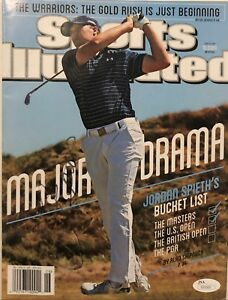 Jordan Spieth Signed Sports Illustrated w/JSA COA Masters Champion S00089