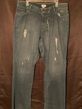 1ad022afc85 CATO Womens Size 20W Dark Blue Distressed Jeans NEW