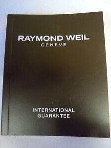 Raymond Weil International Guarantee Booklet