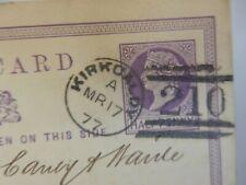 More details for postcard  early  kirkcaldy   postmark  1877    p10 d9