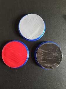 SNAZAROO FACEPAINT  RED BLACK GREY WATER BASED  THEATRICAL HALLOWEEN  18ML POT