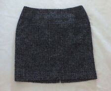 Ann Taylor Skirt Womens Size 10 Black White Tweed Straight Above Knee Career