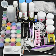 BF ACRILICO POLVERE NAIL ART KIT UV GEL MANICURE DIY suggerimenti polacca Brush Set # 667