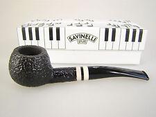 Savinelli Pipe Pfeife Italy Piano Forte Schwarz Rustiziert 315 KS 9mm, #355
