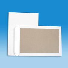 100 Versandtaschen C4 mit Papprückwand - Haftklebung - Kartonrückwand - weiß