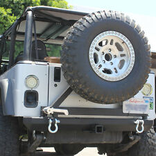 JEEP WRANGLER REAR BUMPER TIRE CARRIER SWING OUT 1987-06 YJ TJ W/ D-RINGS