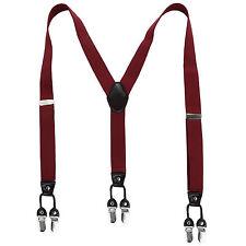 Mens Womens Trousers SIX BUCKELS Suspenders Adjustable Braces Unisex 3.5cm